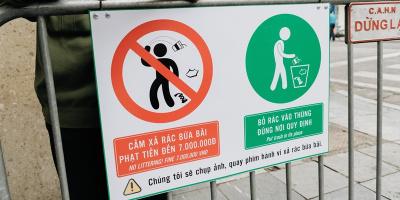 Lắp camera ghi hình, phạt 7 triệu về hành vi xả rác ở phố đi bộ Hoàn Kiếm