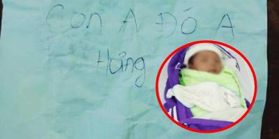 """Bé trai 1 tháng tuổi bị bỏ rơi ngoài công viên kèm tờ giấy nhắn: """"Con anh đó anh Hưng"""""""