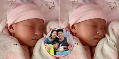 Khoảnh khắc ngủ cực đáng yêu của công chúa nhà Lê Phương
