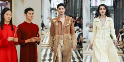Cặp đôi Next Top hôm trước ăn hỏi, hôm sau catwalk show Lê Thanh Hòa