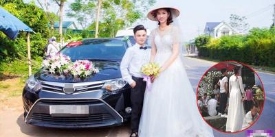 Đám cưới của chú rể cao 1m4 và cô dâu có chiều cao khủng lên tới 1m94