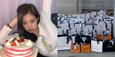 Quà sinh nhật ngập hàng hiệu của Jennie, chỉ fan xứ Trung đã 70 món