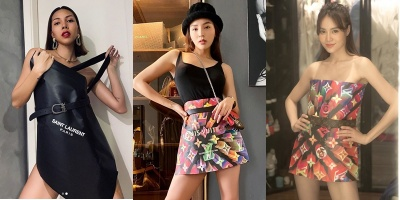Sao Việt bắt trend lấy túi giấy làm váy: ai cũng sang hết nấc