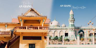 """""""Lạc lối"""" với kiến trúc tôn giáo đẹp của An Giang: Chùa Cọc, chùa Hang"""