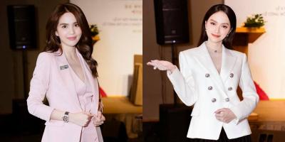 Ngọc Trinh chúc mừng Hương Giang trở thành CEO