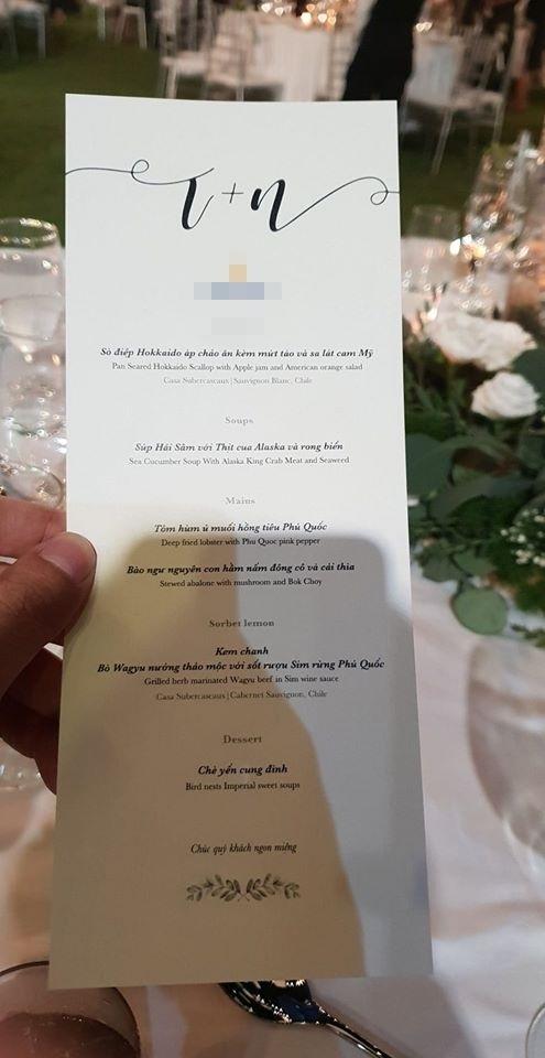 Thực đơn toàn món thượng hạng ở đám cưới Ông Cao Thắng - Đông Nhi - Tin sao Viet - Tin tuc sao Viet - Scandal sao Viet - Tin tuc cua Sao - Tin cua Sao