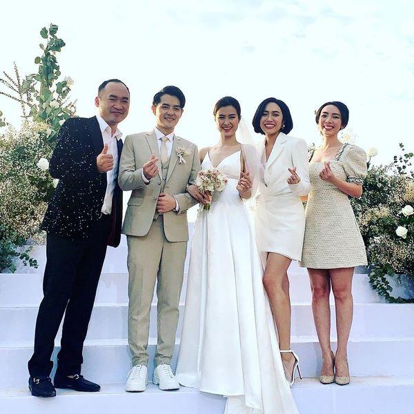 Kết quả hình ảnh cho dàn sao dự đám cưới đông nhi