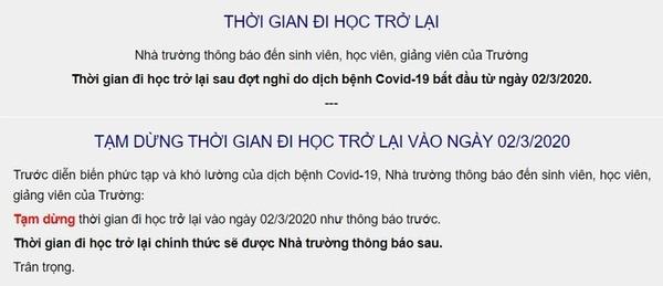 Truong dai hoc o TP.HCM huy thong bao sinh vien di hoc ngay 2/3 hinh anh 1 1.jpg