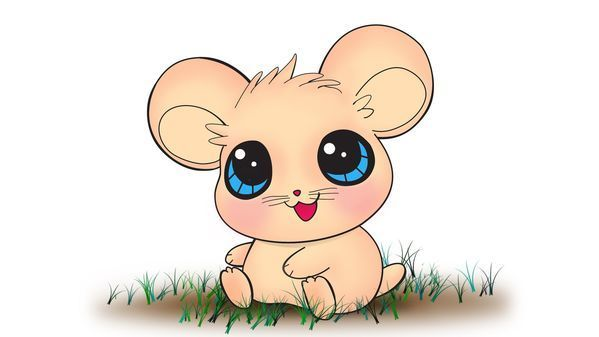 Vẽ con chuột kute   How to draw mouse kute #draw #mouse #kute ...