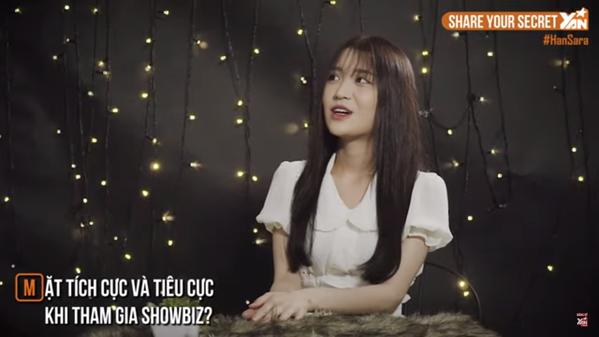Han Sara đã thay đổi những gì khi gia nhập showbiz? - Ảnh cắt từ clip