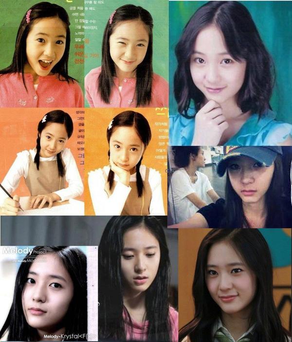 Xinh đẹp từ bé, cho đến nay Krystal đến nay vẫn coi là huyền thoại nhan sắc của SM