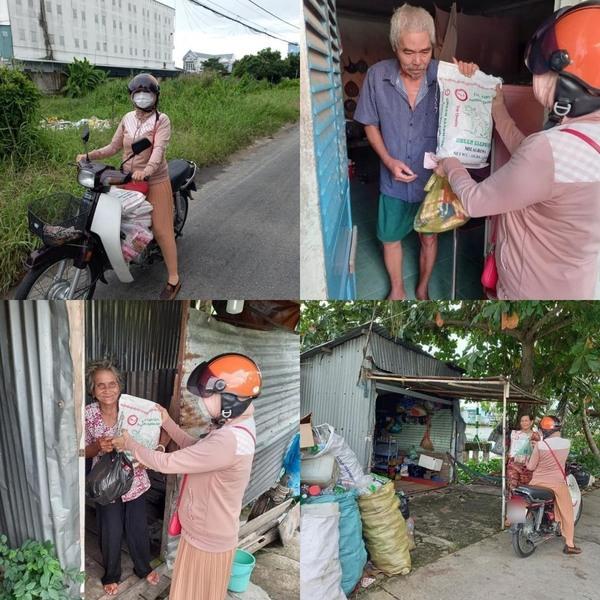 Đến hiện nay, mẹ Thủy Tiên vẫn thường xuyên đi từ thiện.(Ảnh: Chụp màn hình) - Tin sao Viet - Tin tuc sao Viet - Scandal sao Viet - Tin tuc cua Sao - Tin cua Sao