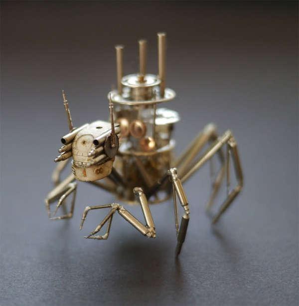 Cận cảnh những tuyệt tác côn trùng làm từ linh kiện đồng hồ
