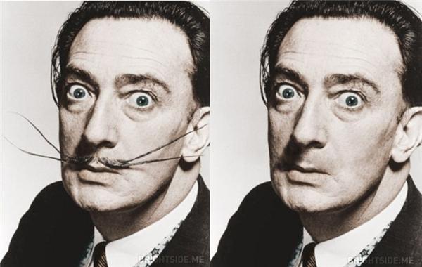 """Vắng bóng bộ râu """"huyền thoại"""",Salvador Dali trông khá... bình thường."""