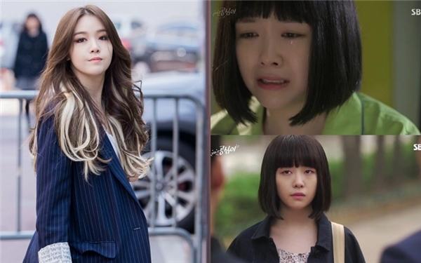"""Dù tên phim làBeautiful Gongshim nhưng thần thái cũng như nhan sắc của Minah không mấy """"mặn mà"""", dù vậy cô nàng vẫn rất đáng yêu đấy chứ."""