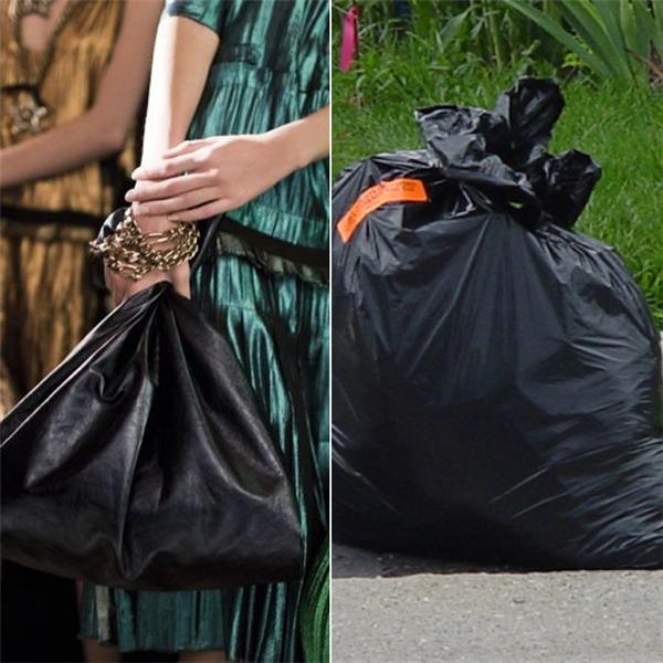 Lanvin có mẫu thiết kế túi vào năm 2014 trông như túi rác, có giá khoảng 30 triệu đồng, một con số không hề nhỏ.