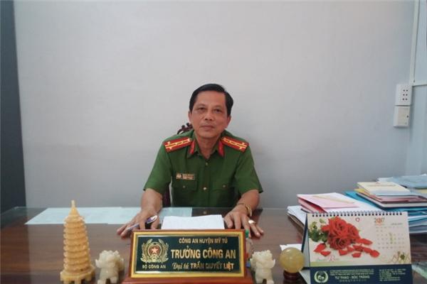 Đại tá Trần Quyết Liệt, trưởng công an huyện Mỹ Tú.