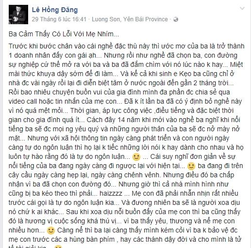 Không để vợ mình hứng chịu những chỉ tríchtừ dư luận, Hồng Đăngbất ngờ chia sẻ một đoạn tâm thư dài về nghề, về áp lực từ sự nổi tiếng mà mình đang có. - Tin sao Viet - Tin tuc sao Viet - Scandal sao Viet - Tin tuc cua Sao - Tin cua Sao