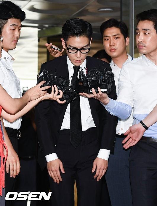 T.O.P xuất hiện tiều tụy tại phiên tòa phán quyết vi phạm hút cần