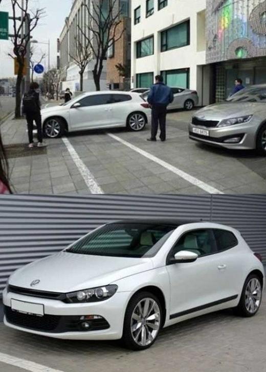 Chiếc Volkswagen cógiá trị khoảng 49triệu won ( 990 triệuđồng)của Yoona được phát hiện trên một khu phố.