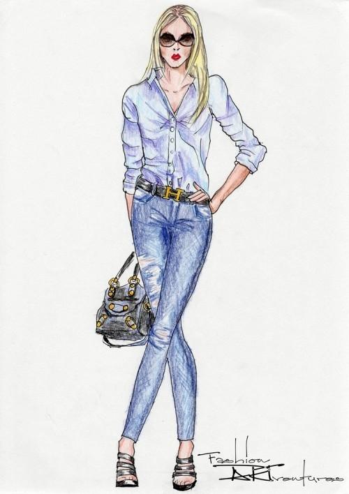 Sơ mi trắng và quần skinny jeans luôn là 2 item không thể thiếu trong tủ đồ của bất cứ cô nàng nào.