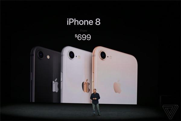Mức giá của iphone 8 là 699 đô-la (khoảng 16 triệu đồng) cho phiên bản 64GB còn ở iphone 8 Plus là 799 đô-la (khoảng 18 triệu đồng). Máy sẽ được cho đặt trước từ này 15/9 và lên kệ tại các cửa hàng chính thức của Apple từ ngày 22/9. Ngoài ra, hãng này cũng không hề đề cập tới giá bán của phiên 256GB. Máy sẽ có 3 màu là bạc, xám không gian và vànggold.