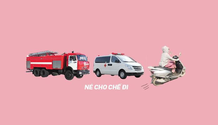 """Nhi hài hước cho biết có 3 loại xe ưu tiên ở Sài Gòn: xe chữa cháy, xe cứu thương và xe Lead. Tại đây, các """"ninja Lead"""" có mặt khắp mọi nơi, chạy bất chấp nên cần nhường đường."""