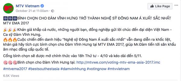 Bị vuột mất giải thưởng MTV EMA 2017 phút chót, Đàm Vĩnh Hưng nói gì? - Tin sao Viet - Tin tuc sao Viet - Scandal sao Viet - Tin tuc cua Sao - Tin cua Sao