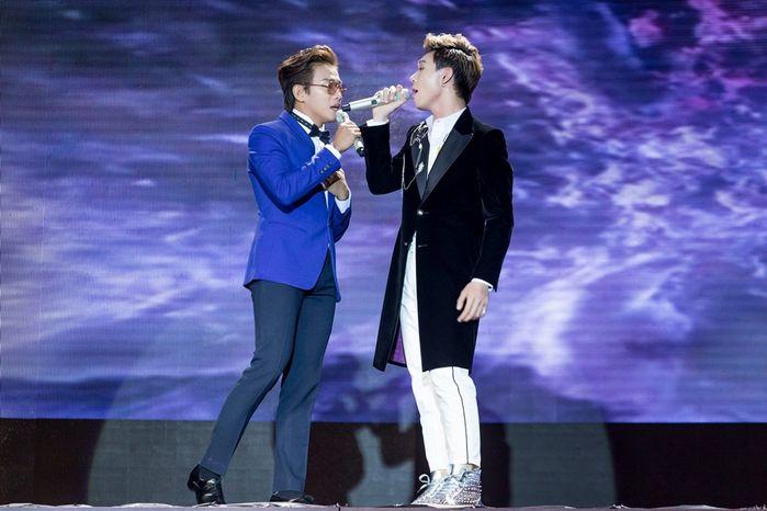 Minh Dũng và Erik đã có màn kết hợp rất ngọt ngào trên sân khấu Cặp đôi hoàn hảo.