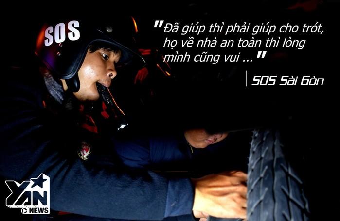 """Đội thanh niên tình nguyện """"SOS""""- Cái tên luôn khiến người Sài Gòn an tâm khi chạy xe về đêm"""