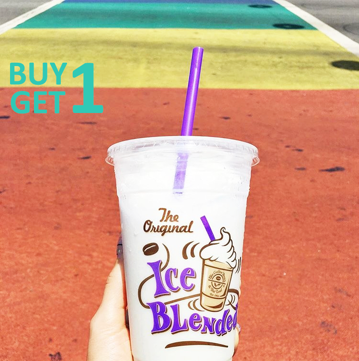 """BUY 1 GET 1 cho Pure Vanilla Ice Blended và Vanilla Ice Blended""."