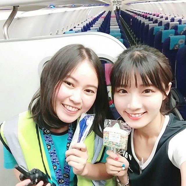 Xảo Tử làtiếp viên hàng khônghãng V Air Đài Loan.