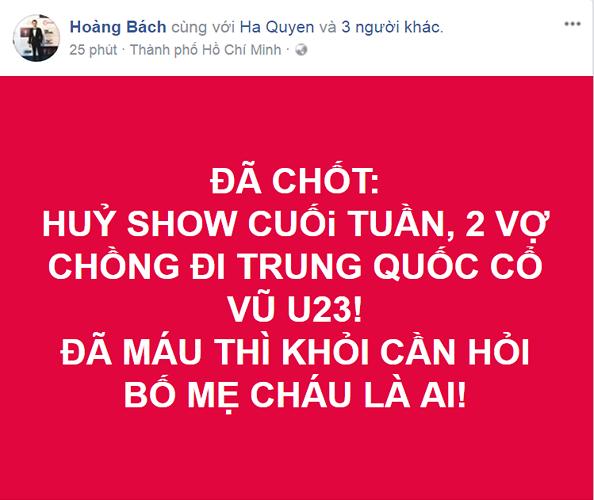 Hoàng Bách đưa cả vợ sang Trung Quốc ủng hộ đội tuyển Việt Nam. - Tin sao Viet - Tin tuc sao Viet - Scandal sao Viet - Tin tuc cua Sao - Tin cua Sao