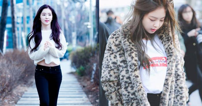 Lại thêm một minh chứng cho sở thích mang áo tay dài của Irene và sự cuồng các thể loại áo khoác của Jennie.