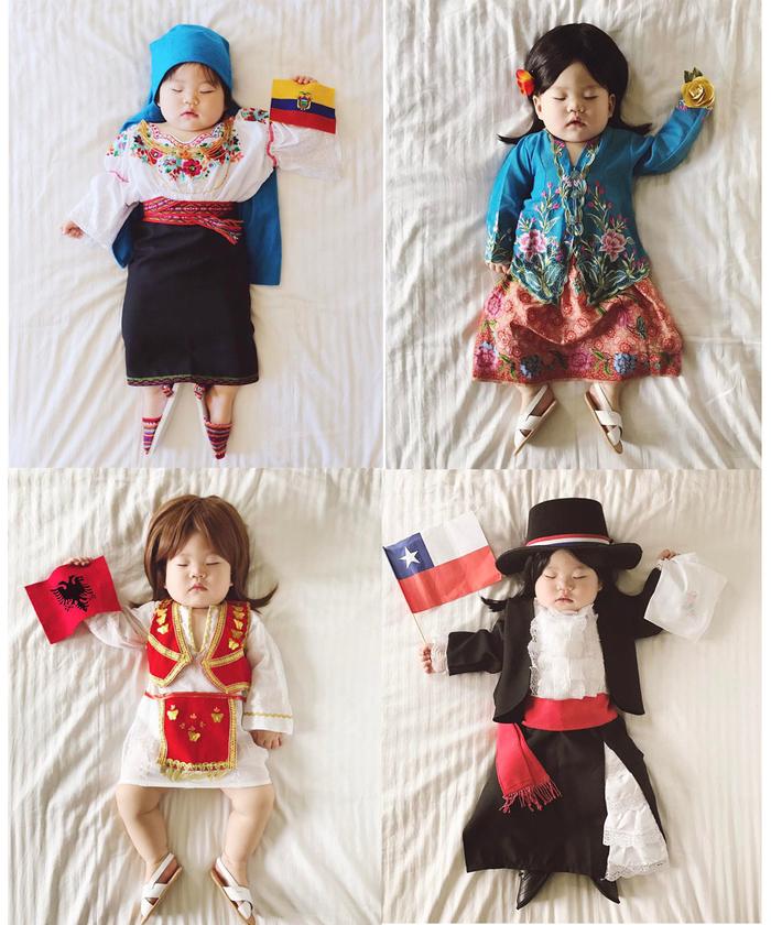 Cô gái đến từ các đất nước khác nhau trên thế giới