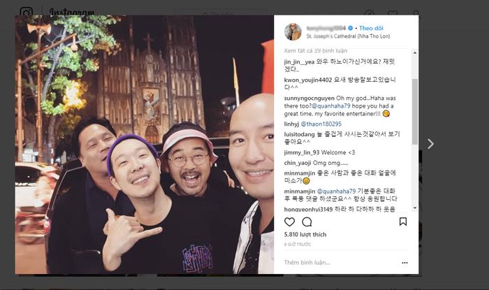 Một ngôi sao khác cũng đang có mặt tại Hà Nội là nam diễn viên, doanh nhân Hong Seok Chun.