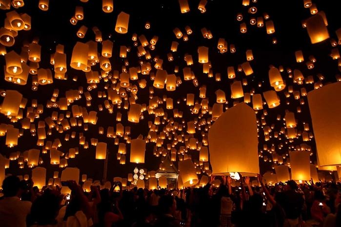Biến giấc mơ thành hiện thực với lễ hội thả đèn trời ước nguyện của các nước châu Á