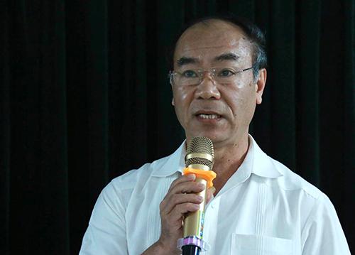 Chánh thanh tra Bộ Giáo dục và Đào tạo Nguyễn Huy Bằng. Ảnh:Quỳnh Trang.