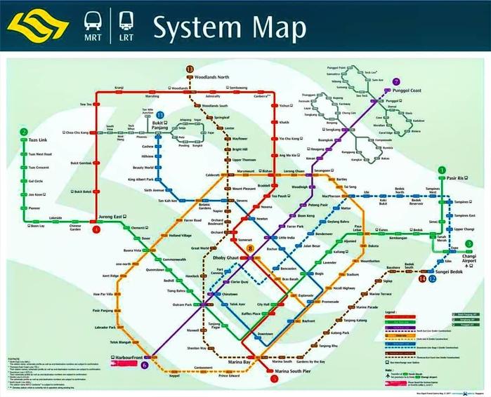 Sơ đồ hệ thống MRT tại Singapore @b_chattleya