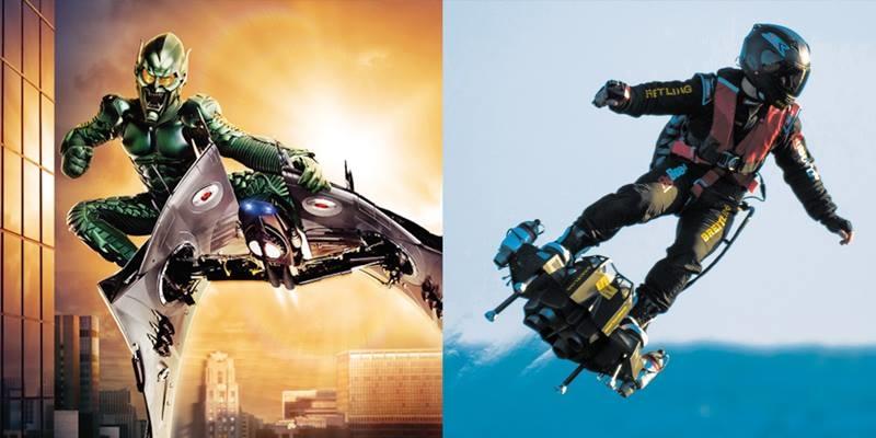 Sau khi xem clip, các mọt phim thế giới cảm thấy thiết bị này khá giống đĩa bay của ác nhân Green Goblin tron bộ phim Spiderman (Người nhận 2002)