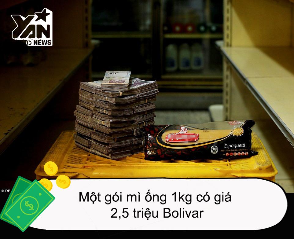 Lạm phát ở Venezuela: Mang theo vài cân tiền mới mong mua được một gói... băng vệ sinh!