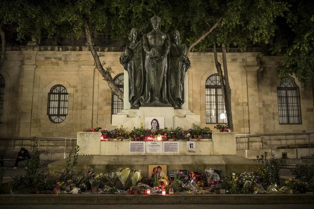 Đài tưởng niệm nữ phóng viênDaphne Caruana Galizia