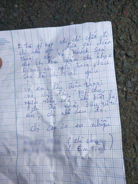 Lá thư cô gái để lại.