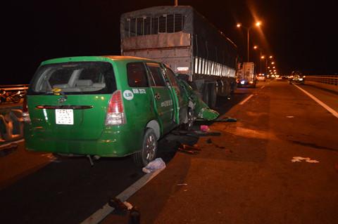 Hiện trường vụ tai nạn giao thông. Ảnh: Mai Trâm