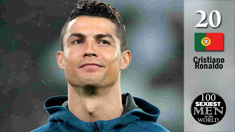 Cristiano Ronaldo xếp ở vị trí thứ 20 trên BXH.