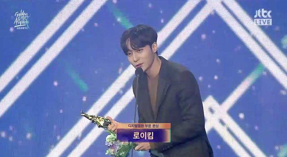 Roy Kim nhận giải Bonsang tại Golden Disc Awards 2019 - Digital​.