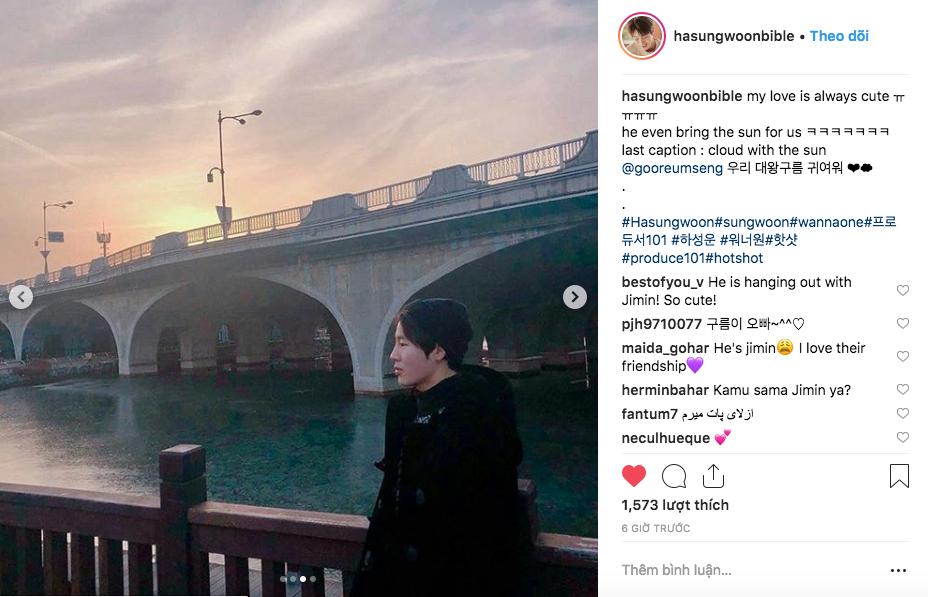 """Ha Sungwoon cũng """"thả thính"""" vào ngày đầu năm."""