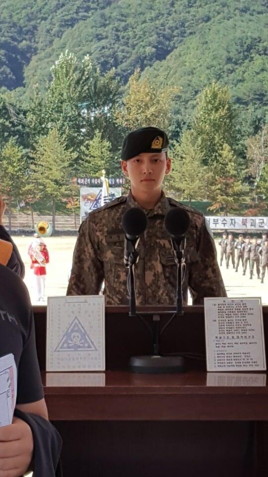 Ji Chang Wook khiến người hâm mộ tự hào khi đạt thành tích tốt trong quân đội.