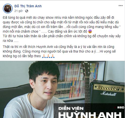 """Hot girl Trâm Anh lên tiếng ủng hộ Huỳnh Anh khi bị đạo diễn tố """"mất dạy, vô ơn"""". - Tin sao Viet - Tin tuc sao Viet - Scandal sao Viet - Tin tuc cua Sao - Tin cua Sao"""