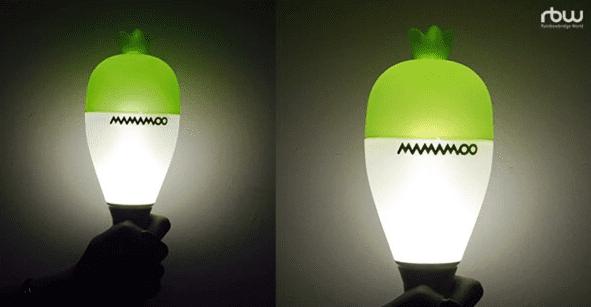 Chiếc lightstick hình củ cải ấn tượng của MAMAMOO.